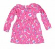 Fashionable Girls Full Sleeve Frock   All Over Print_Pink