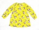 Fashionable Girls Full Sleeve Frock   All Over Print_Yellow