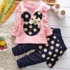 Girls Skirt Fashion Full Sleeve  Tops and Pant_Pink