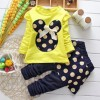 Girls Skirt Fashion Full Sleeve  Tops and Pant_Yellow