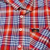 Red Small Check Short Sleeve Boys Shirt