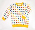 Star All Over Print Full Sleeve  Tops for Winter_Yellow
