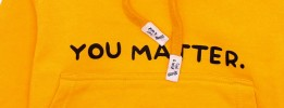 You Matter Stylish Hoodie for  Girls and Boys Golden  Yellow